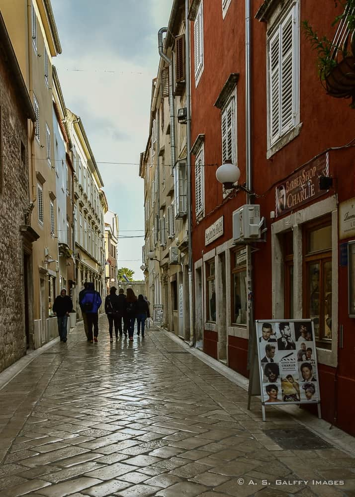 Image depicting a street in old town Zadar