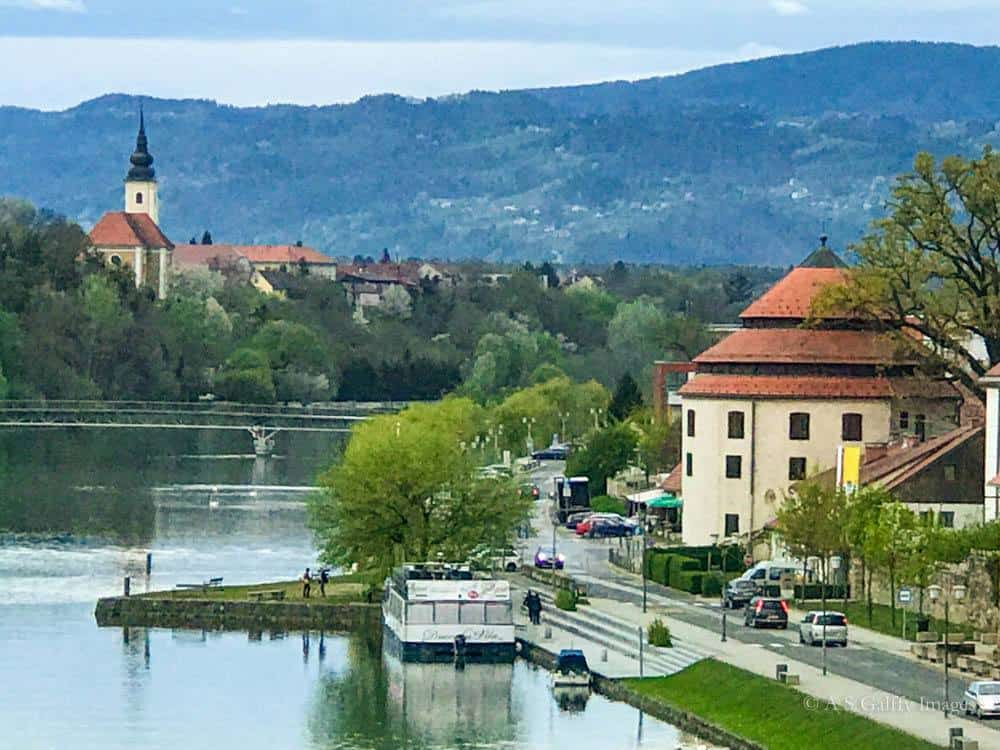 Image depicting the Drava River and Old Town Maribor