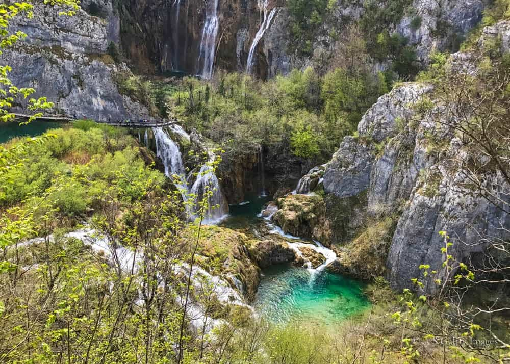 Image depicting a beautiful waterfall in Plitvice National Park
