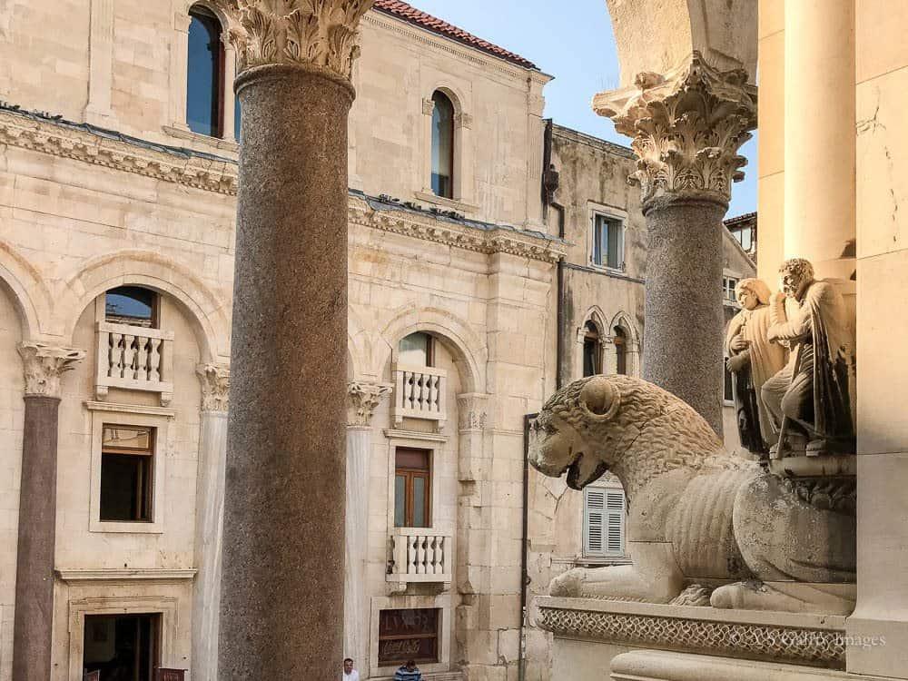 Image depicting Roman ruins in Split, Croatia