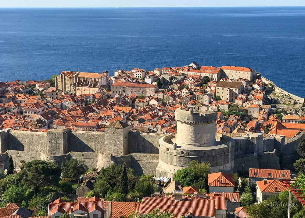 Image depicting the old town of Dubrovnik seen from above