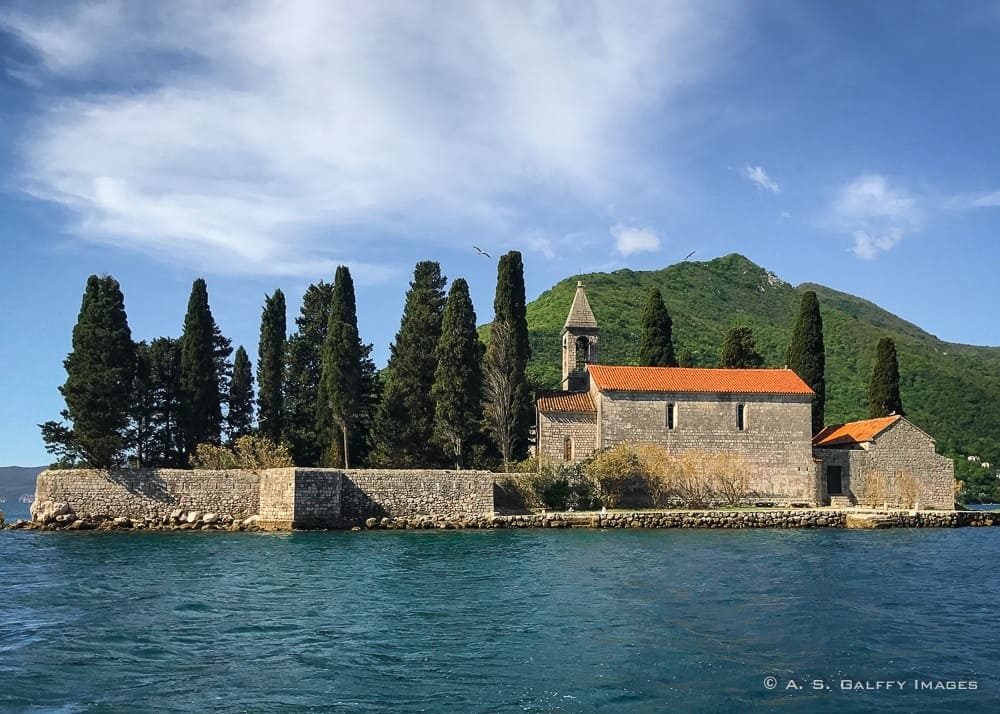 View of the Island of St.Georg, one of Montenegro tourist attractions