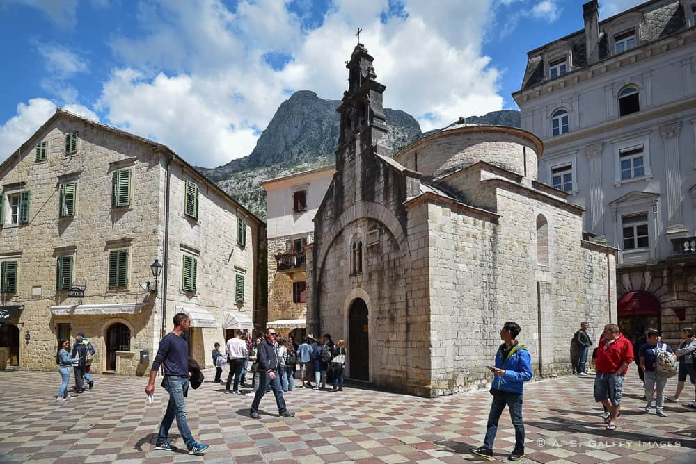 Old town Kotor, a beautiful coastal town on the Montenegro coast