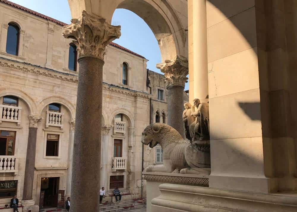 View of the Peristyle (courtyard) from Diocletian's mausoleum, one of Croatia's Most Beautiful Sites