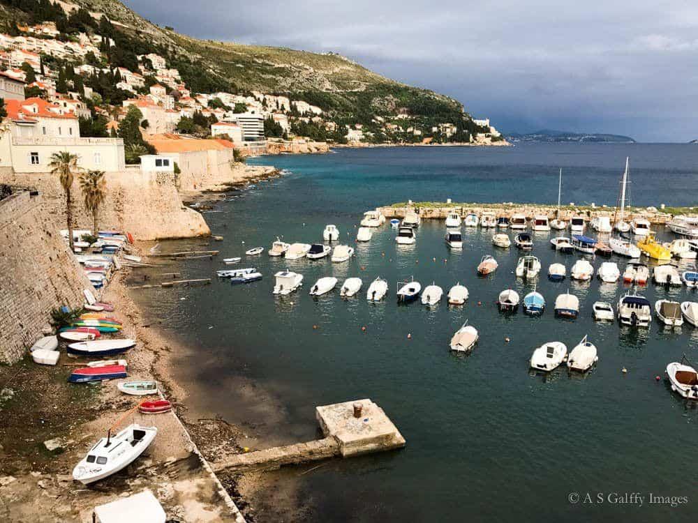 The port of Dubrovnik, Croatia