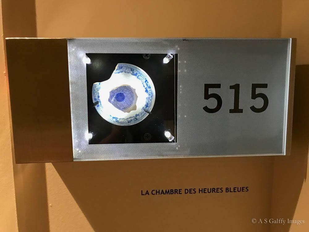 Room number display at Auberge Saint-Antoine
