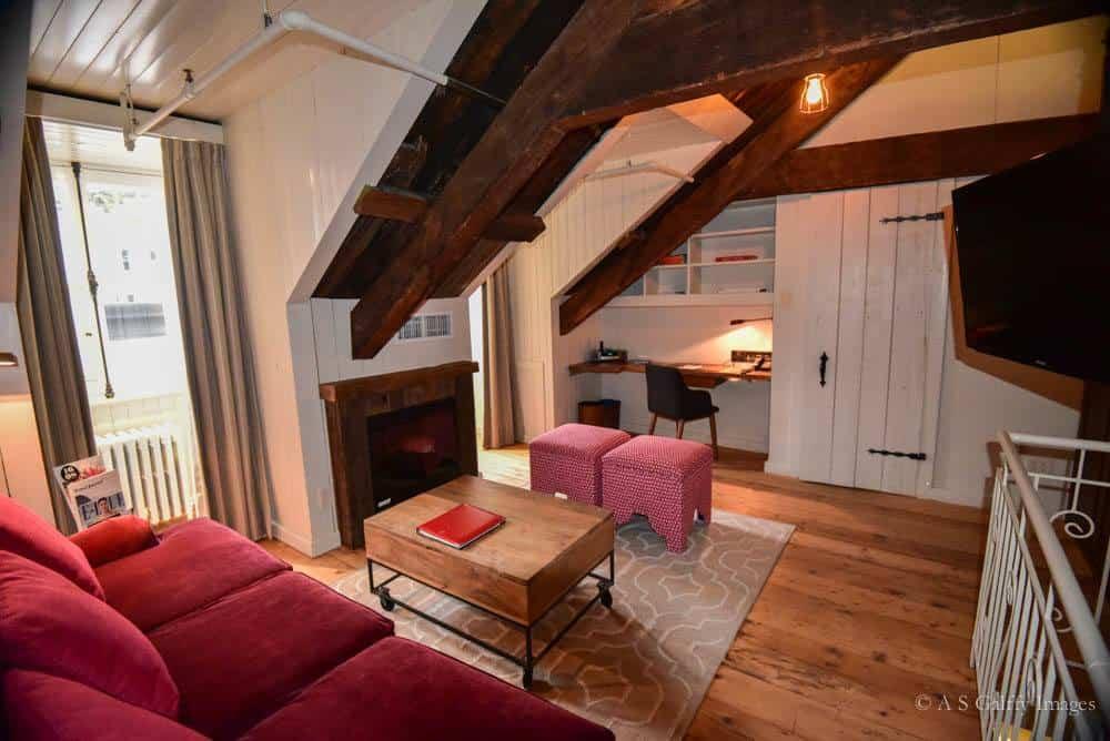 Attic suite at Auberge Saint-Antoine