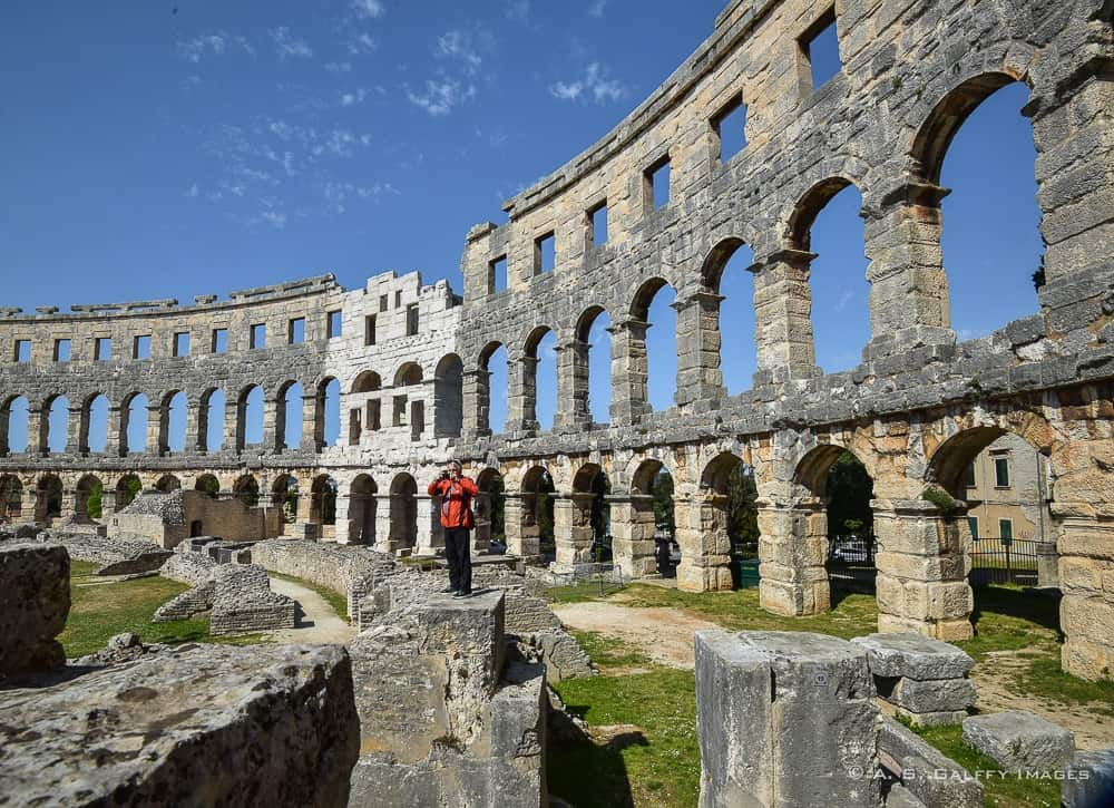 Roman Arena in Pula, one of Croatia's most beautiful places