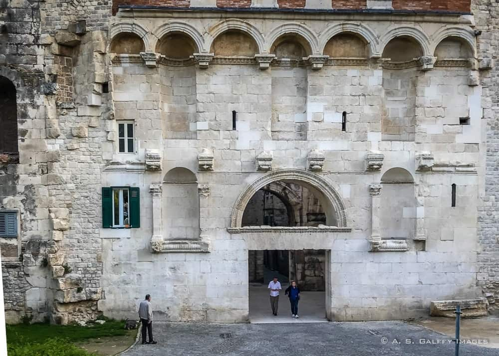 The Golden Gate (Porta Aurea) of Diocletian's Palace