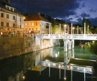 The Weekly Postcard: Ljubljana After Dark – View of the Cobbler's Bridge