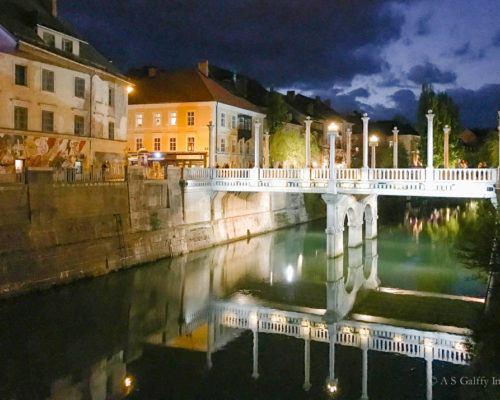 The Weekly Postcard: Ljubljana After Dark