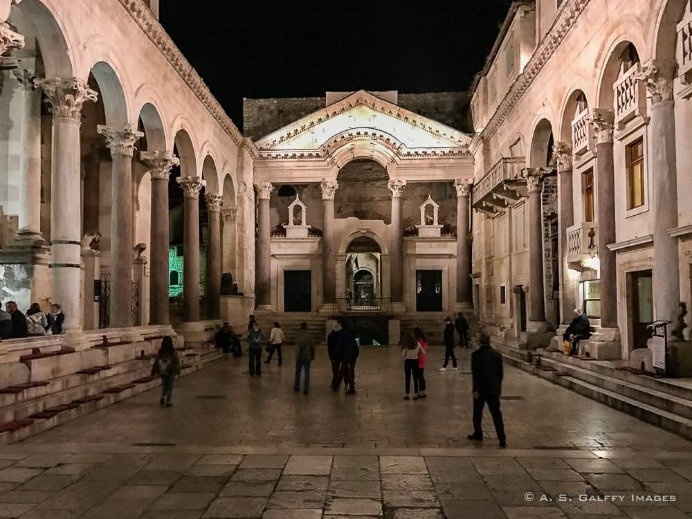 The Peristyle of Diocletian's Palace in Split