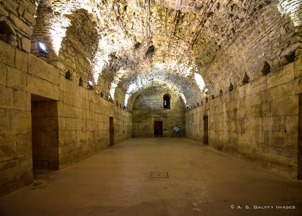 The Underground vaults of Diocletian's Palace