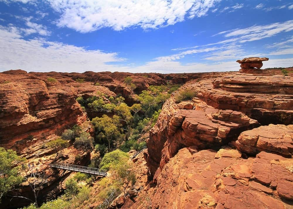 View of the King's Canyon on the Australian Outback