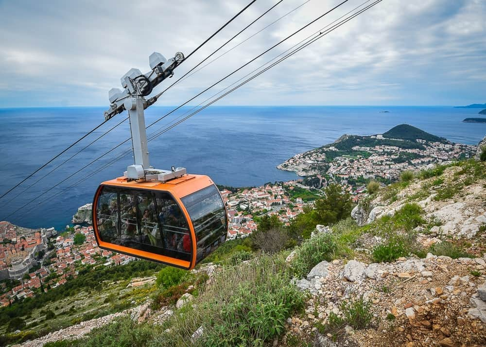 Cable car to Fort Imperial in Dubrovnik
