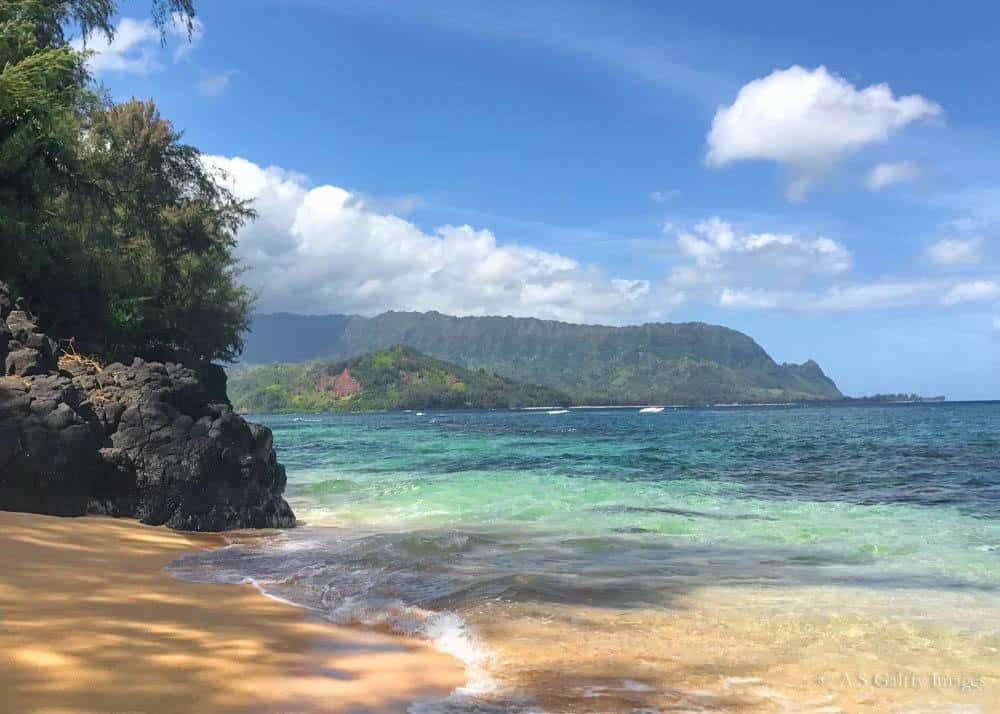 The Secret Beach on the North shore of Kauai