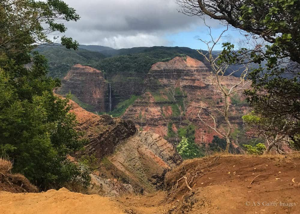 View of the Waimea Canyon which is tied to Hawaiian legends