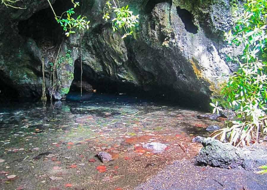 View of Wai'anapanapa Cave