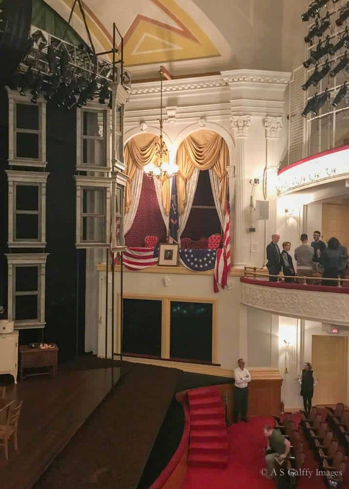 View of The Presidential Box at Ford's Theater
