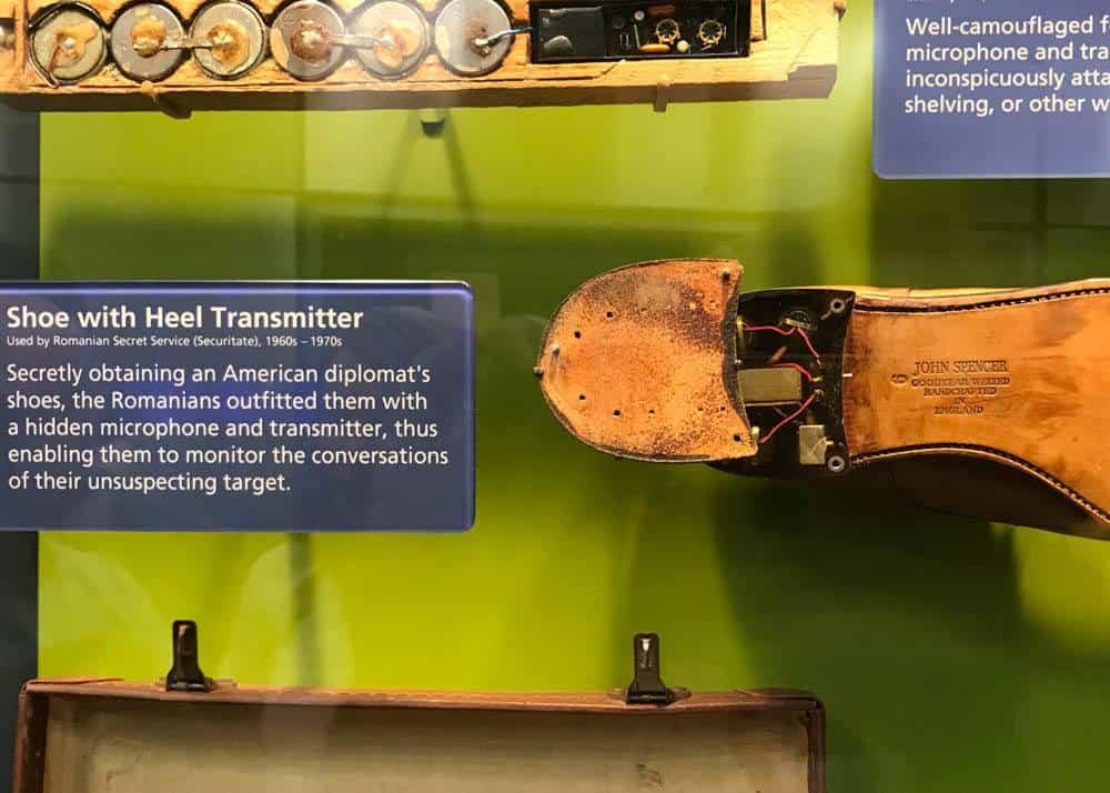 exhibit at the Spy Museum