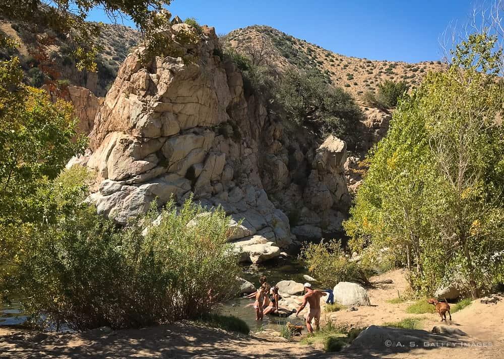 Nude people at the Deep Creek Hot Springs