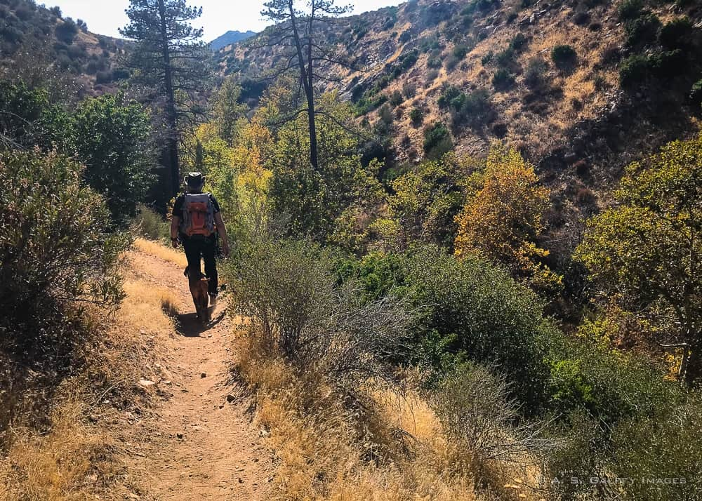 Hiking back to Lake Arrowhead from the nude hot springs