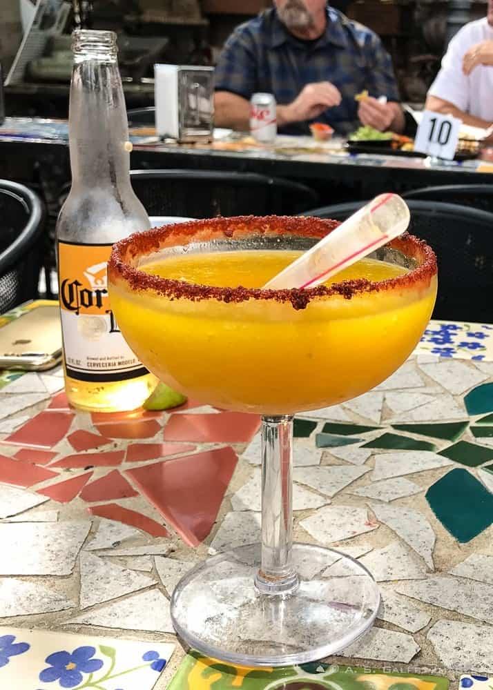 Margarita served at Tio's Tacos Restaurant in Riverside