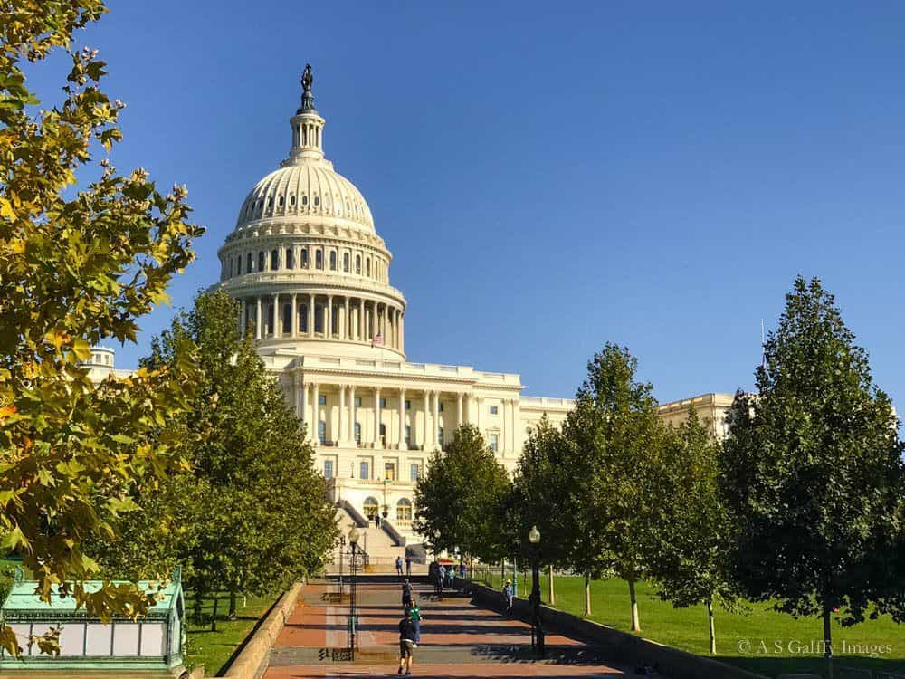 View of the Capitol Building in Washington DC