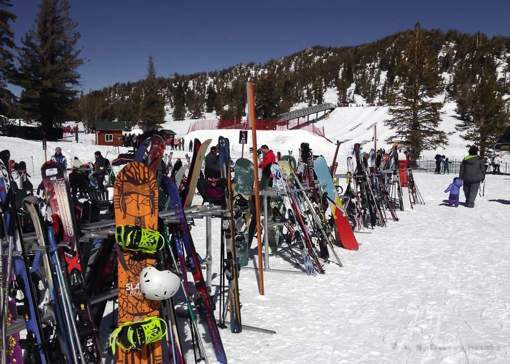 skiers in Big Bear