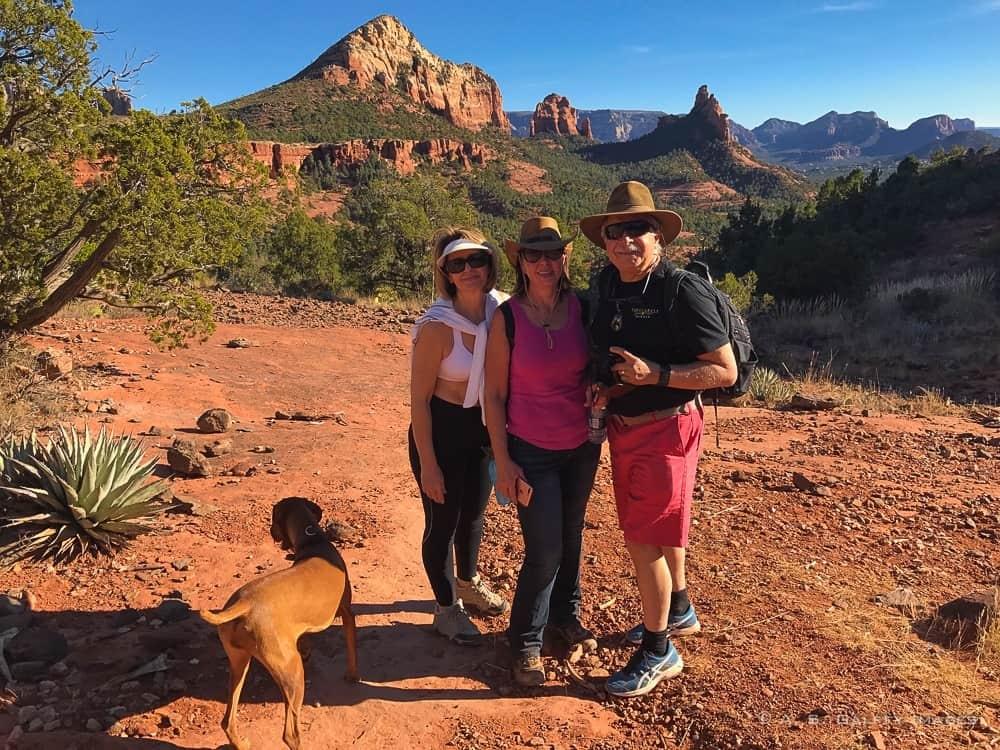 Hiking on Brins Mesa Trail