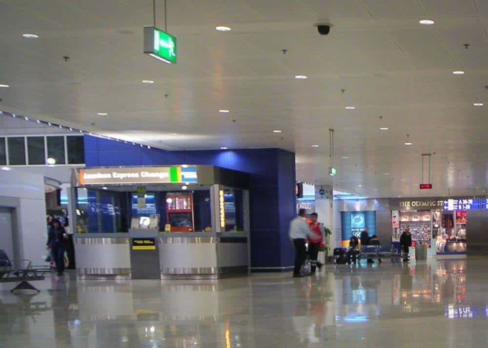 Money exchange office at the airport