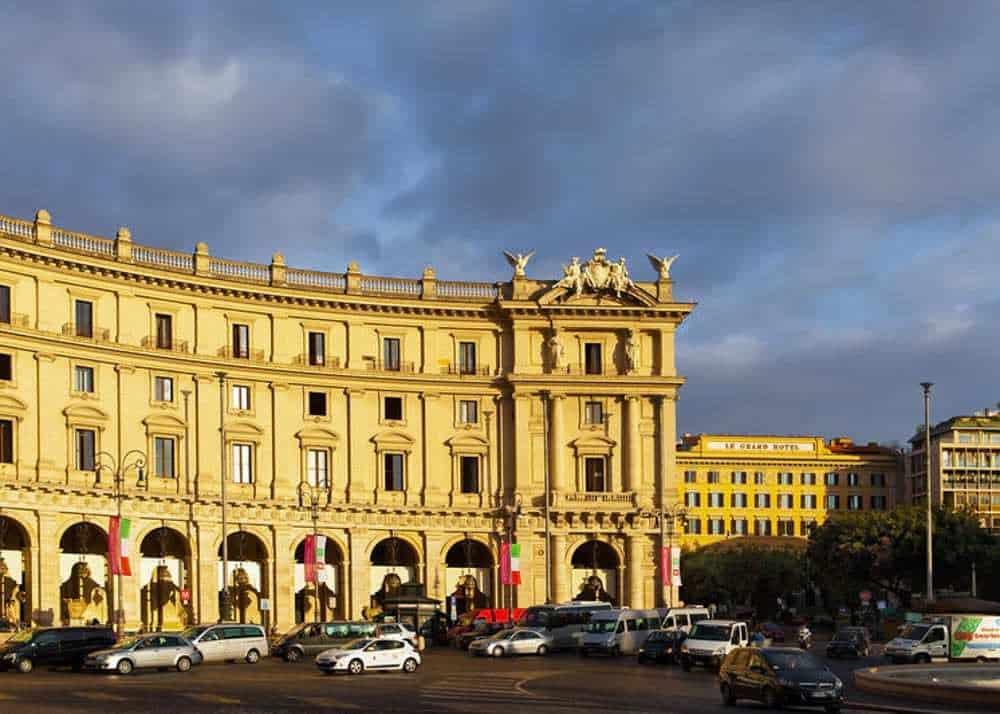 Piazza della Repubblica, best area to stay in Rome for budget travelers