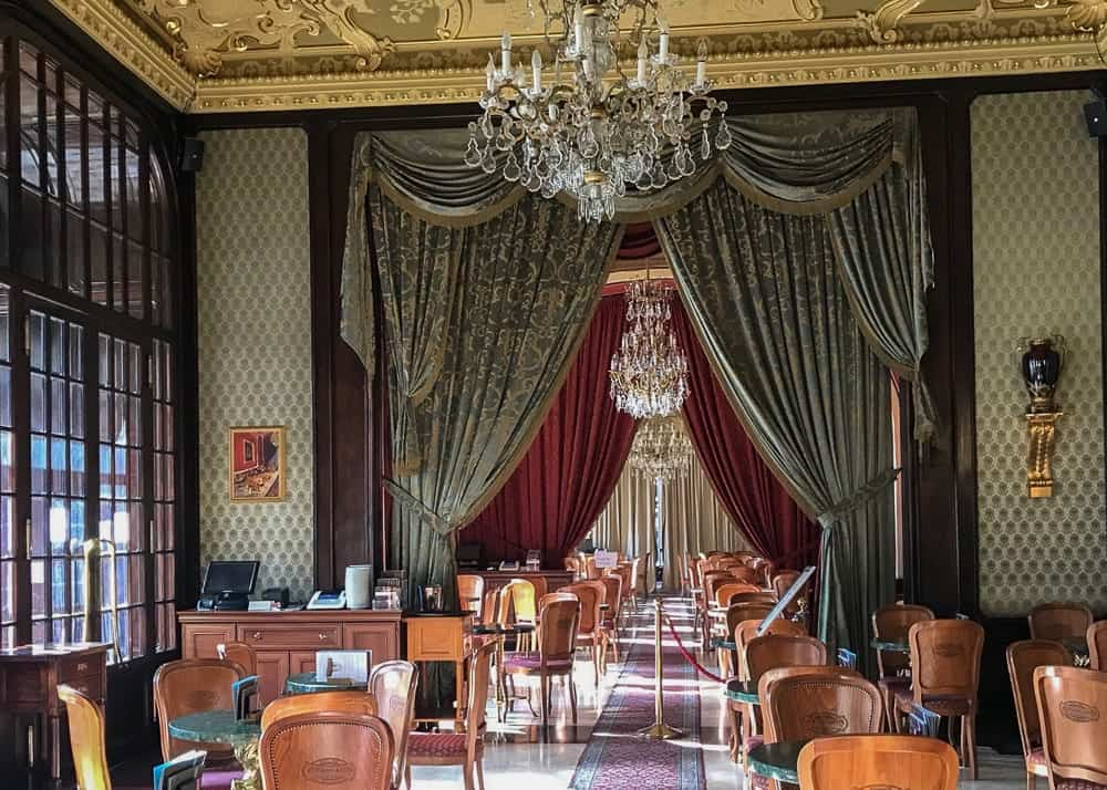 Café Gerbeaud on the Pest side in Budapest