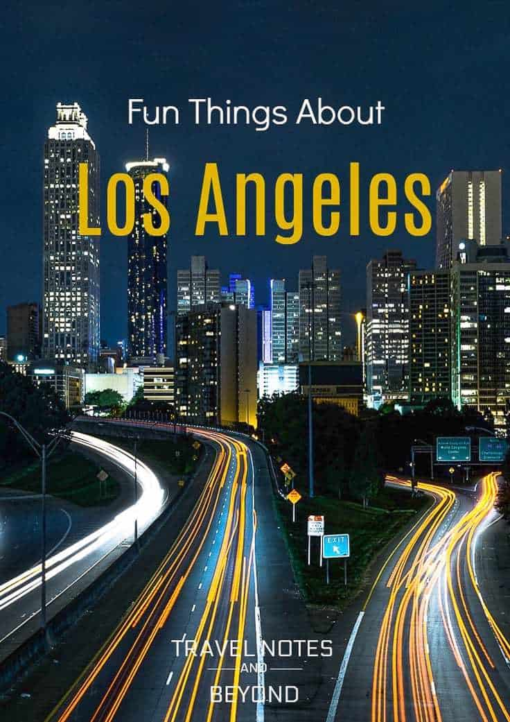 Fun facts about Los Angeles pin