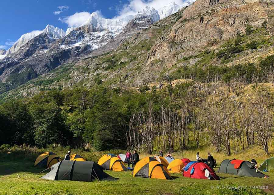 Lodging in Torres Del Paine: Lago Gray campground