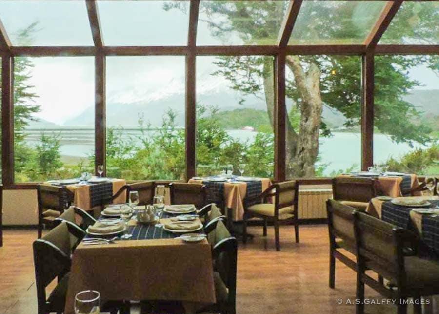 Restaurant at Hotel Lago Grey in Torres del Paine