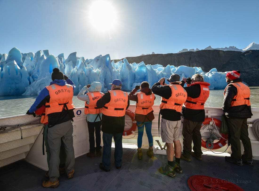 Boat trip to Glacier Grey