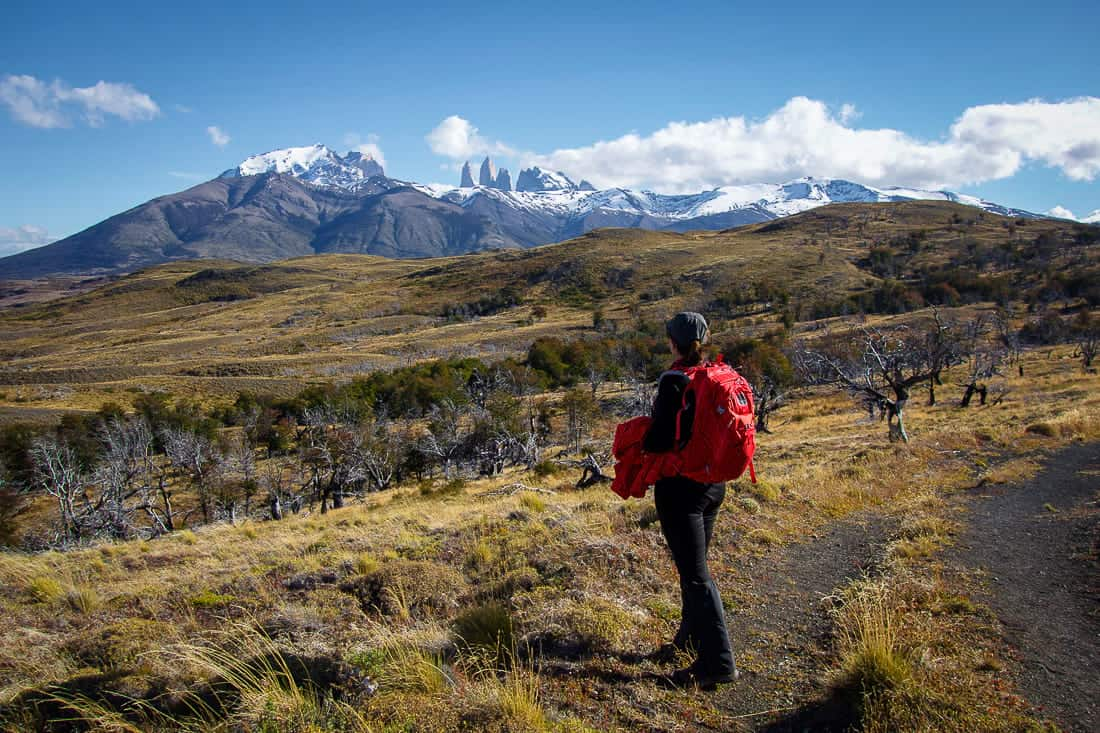 Hiking in to Laguna Azul in Torres del Paine