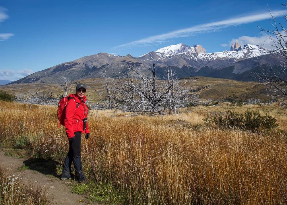 Hiking at Laguna Azul in Torres del Paine