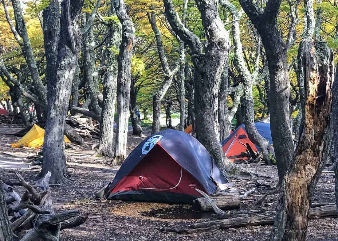 Campground for people who hike in Patagonia