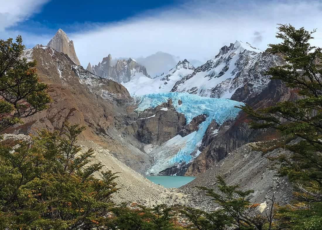 View of Mirador Piedras Blancas in El Chalten