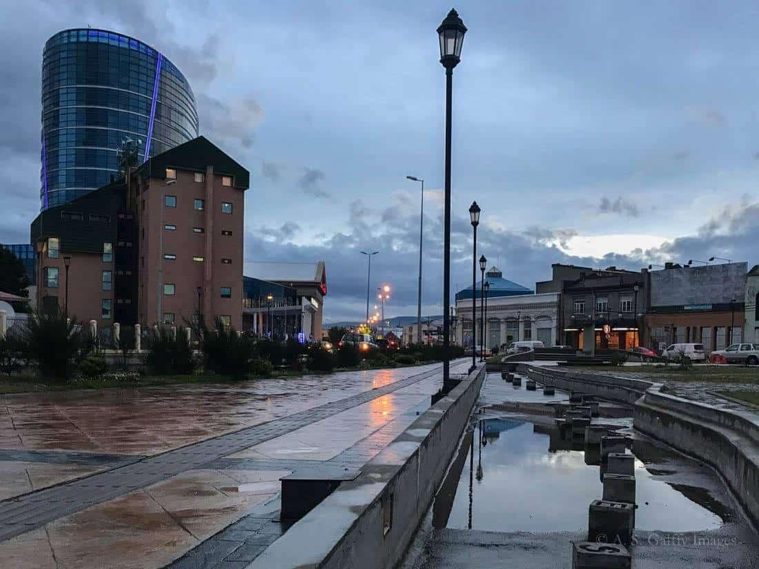 Punta Arenas at night