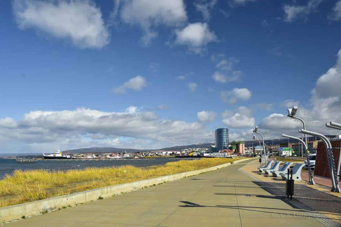 Waterfront promenade in Punta Arenas