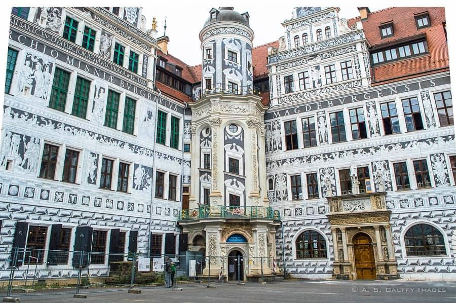 Dresden Royal Palace courtyard