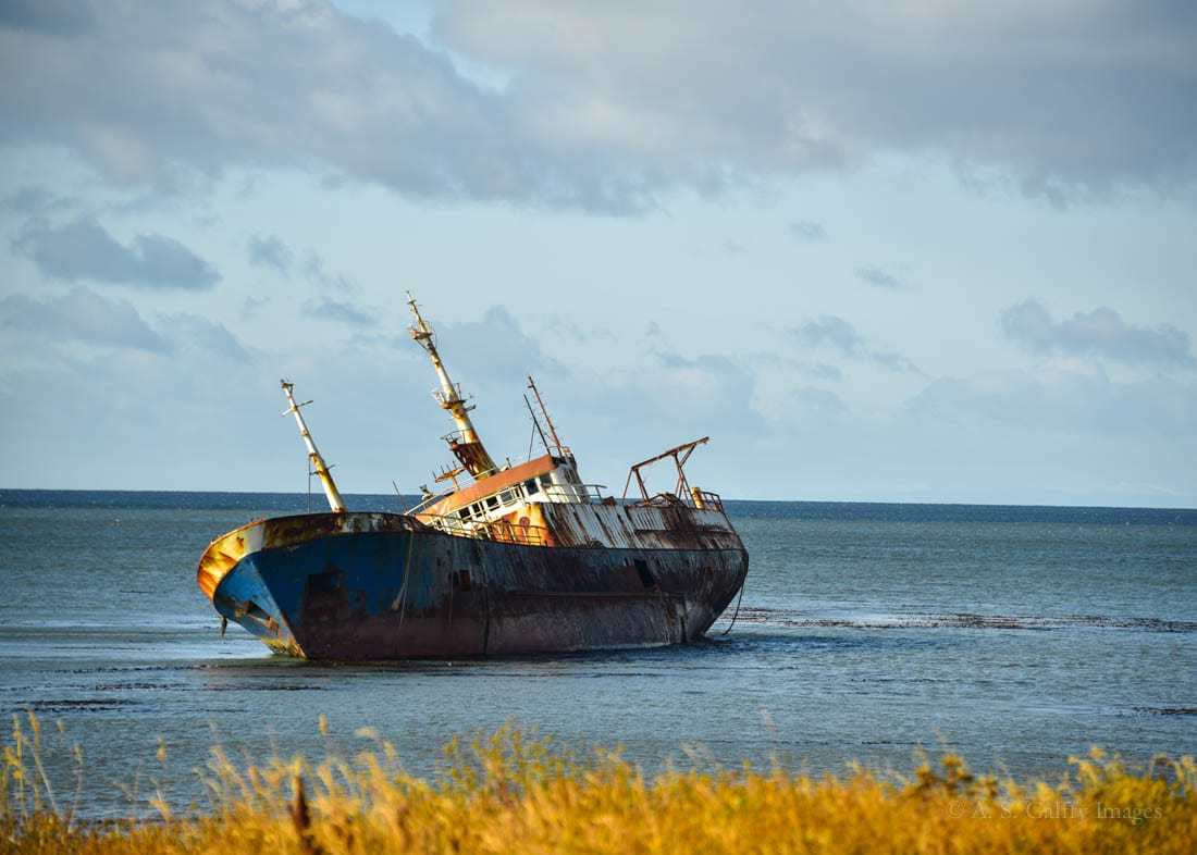 Shipwreck in Punta Arenas