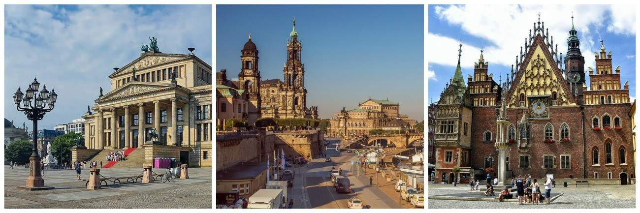 Berlin, Dresden, Wroclaw images