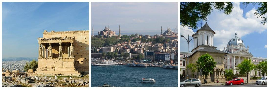 Athens, Istanbul, Bucharest itinerary