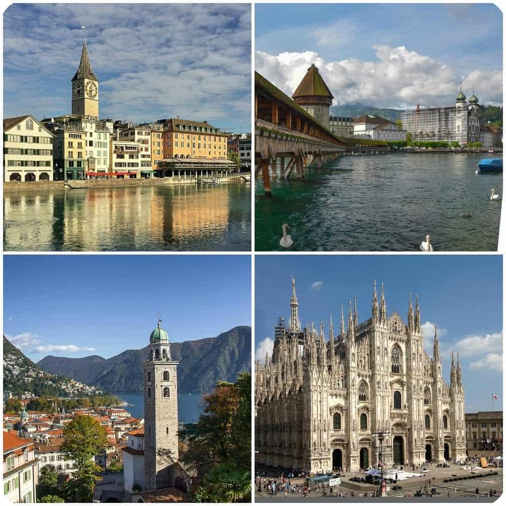 2 Weeks European Itinerary: Zurich, Lucerne, Lugano, Milan Itinerary