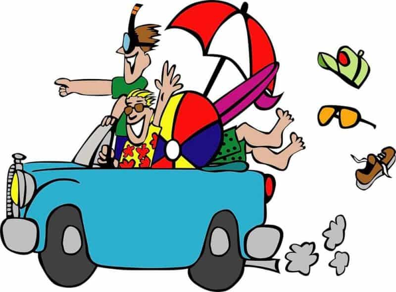 people going on a road trip vacation