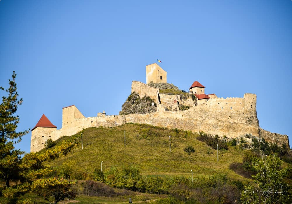 view of the Fortress of Rupea